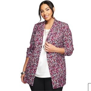 Jessica London plus size multicolor blazer jacket